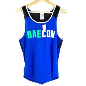 PINK VS Baecon Royal Blue Tank
